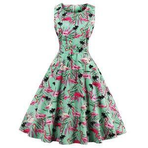Flamingo Print Swing Dress Size 4X US 18